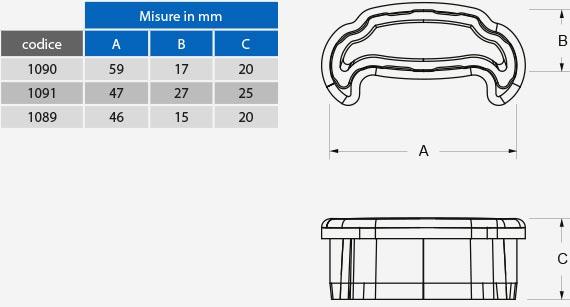info dimensioni e sezione
